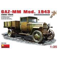 MiniArt 1/35 Советский грузовик Газ-ММ модификации 1943 года. № 35134