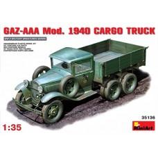 MiniArt 1/35 Советский грузовик Газ-ААА, модификации 1940 года. № 35136