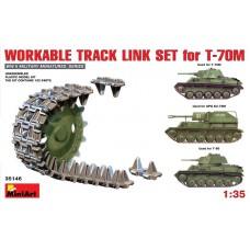 MiniArt 1/35 Набор рабочих траков для танка Т-70M (СУ-76М, Т-80). № MIA_35146