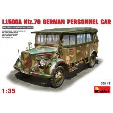 MiniArt 1/35 Немецкий автомобиль повышенной проходимости Mercedes-Benz L1500A (Kfz.70). № MIA_35147