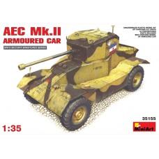 MiniArt 1/35 Британский тяжёлый бронеавтомобиль AEC Mk.II. № MIA_35155