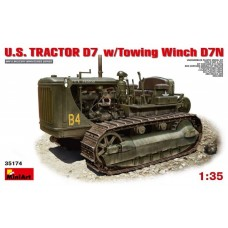MiniArt 1/35 Американский трактор-тягач D7 с буксирной лебёдкой D7N. № 35174