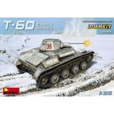 MiniArt 1/35 Советский лёгкий танк Т-60 ранних серий (полный интерьер). № 35215