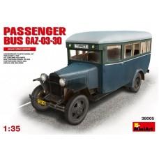MiniArt 1/35 Советский пассажирский автобус Газ-03-30 Модификации 1945 г. № 38005
