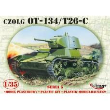 """Mirage Hobby 1/35 Советский лёгкий танк ОТ-134/T-26X """"химический"""". 35309"""
