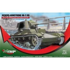 Mirage Hobby 1/35 Английский лёгкий танк Vickers-Armstrong, Mk F/45. № 355011