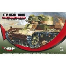 Mirage Hobby 1/35 Польский лёгкий танк 7TP (двух-башенная версия). № 355002