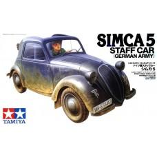 Tamiya 1/35 Французский легковой автомобиль Simca 5 (командный автомобиль Вермахта). № 35321