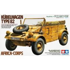 Tamiya 1/35 Немецкий автомобиль повышенной проходимости Volkswagen Kubelwagen Тype 82 Africa Corps. № 35238