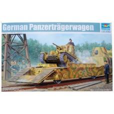 Trumpeter 1/35 Немецкая бронеплатформа с танком PzKpfw 38(t) Ausf.E/F (бронепоезд типа BP-42). № 01508
