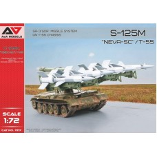 A&A Models 1/72 Советский ЗРК малой дальности С-125 «Нева» на базе танка Т-55. № 7217