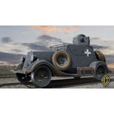 ACE 1/72 Немецкая трофейная бронемашина Ба-20ЖД (легкая разведывательная бронедрезина). № 72210