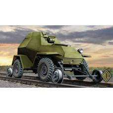 ACE 1/72 Советский бронеавтомобиль Бa-64 В/Г (Железнодорожная версия). № 72264