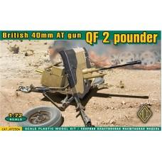 ACE 1/72 Британская 40-мм противотанковая пушка QF 2-pounder. № 72504