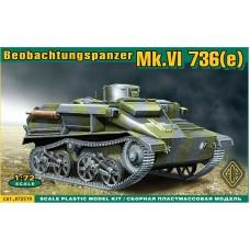 ACE 1/72 Немецкий артиллерийский корректировщик Mk.VI 736(e). № 72519