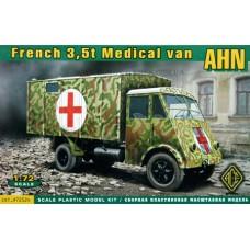ACE 1/72 Французский медицинский грузовик 3,5т AHN. № 72524