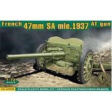 ACE 1/72 Французское противотанковое орудие 47mm S.A. обр.1937. № 72529