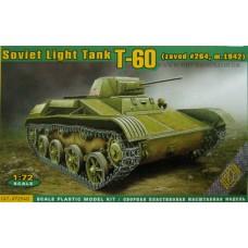 ACE 1/72 Советский лёгкий танк Т-60 выпуска завода №264 (спицованные колёса, зима 1942). № 72540