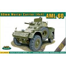ACE 1/72 Французский  бронеавтомобиль Panhard AML-60 Mortar Carrier (4×4). № 72455