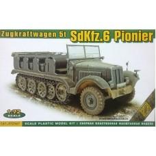ACE 1/72 Немецкий полугусеничный тягач Sd.Kfz.6 (для инженерных войск). № 72567