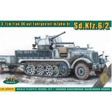 ACE 1/72 Немецкая самоходная зенитная установка Sd.Kfz.6/2 c 3.7 cm Flak 36. № 72573