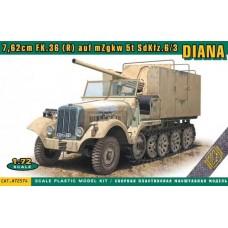 ACE 1/72 Немецкая САУ SdKfz.6/3 7,62cm FK.36 (R) auf mZgkw 5t «Diana». № 72574