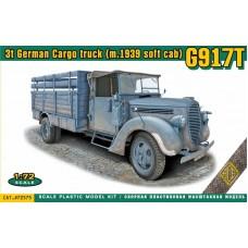 ACE 1/72 Немецкий 3-х тонный грузовик Ford G917T (упрощённая кабина). № 72575