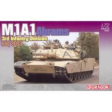 Dragon 1/72 Американский основной боевой танк M1A1 Abrams (3rd Infantry Division Iraq 2003). № 7215