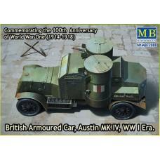 Master Box 1/72 Британский бронеавтомобиль Austin MK.IV, WW I Era. № 72008