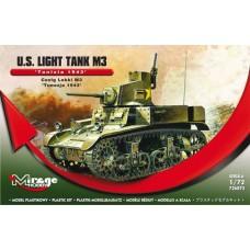 Mirage Hobby 1/72 Американский лёгкий танк М3 (Тунис 1943 год). № 726073