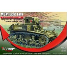"Mirage Hobby 1/72 Лёгкий танк М3A1 Lend-Lease (1942, советский танк ""Куйбышев""). № 726074"