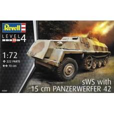 Revell 1/72 Немецкий бронетранспортёр с ракетной установкой sWs with 15cm Panzerwerfer 42. № 03264
