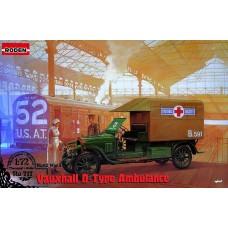 """Roden 1/72 Британский медицинский автомобиль Vauxhall D-Type """"Красный Крест"""". № 717"""