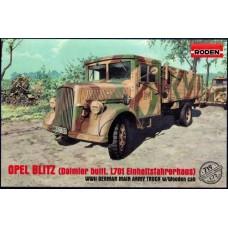"""Roden 1/72 Немецкий грузовой автомобиль """"Opel Blitz"""" (Daimler built, L701 Einheitsfahrerhaus). № 719"""