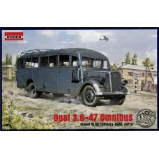 Roden 1/72 Немецкий штабной автобус Opel Blitz Omnibus Model W39. № 720