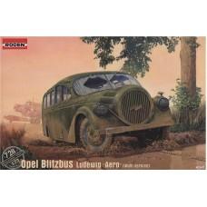 "Roden 1/72 Немецкий штабной автобус Opel Blitz Ludewig ""Aero"". № 728"