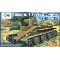 UMmt 1/72 Американский средний танк Christie T-3 модификаций 1931 и1940 годов. № UMMT_403