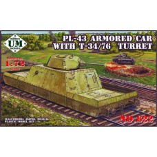 UMmt 1/72 Советская бронедрезина типа ПЛ-43 с башней танка Т-34/76. № 622