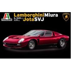 Italeri 1/24 Итальянский cпортивный автомобиль Lamborghini Miura Jota SVJ. № 3649