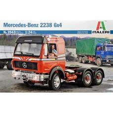 Italeri 1/24 Немецкий седельный тягач Mercedes-Benz 2238 6x4. № 3943
