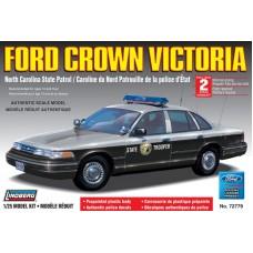 Lindberg 1:25 Ford Crown Vic NC State Patrol, Police Prepainted Cop. № 72779