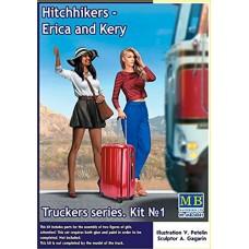Master Box 1/24  Truckers серия: Набор № 1. Автостопщицы Эрика и Кэри. № 24041