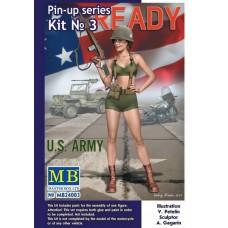 Master Box 1/24  Pin-Up серия: № 3, Alice, U.S. Army. № 24003
