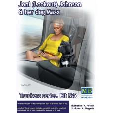 Master Box 1/24  Truckers серия: Набор № 5. Джони (Лукаут) Джонсон и её собака Макс. № 24045