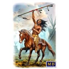 Master Box 1/24  Native American серия: Коренные народы Америки - Охотник на Бизонов. Бегущий Медведь. № 24048