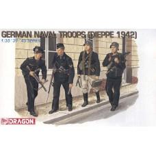 Dragon 1/35 Немецкие военные моряки, Дьепп 1942. № 6087