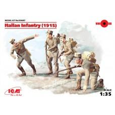 ICM 1/35 Пехота Италии (1915 г.), (4 фигуры). № 35687