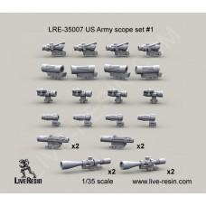 Live Resin 1/35 Американская армия, оптические прицелы, набор № 1. № LRE-35007