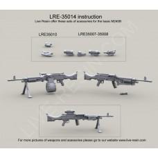 Live Resin 1/35 Американская армия, ручной пулемёт M240B 7.62mm. № LRE-35014