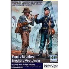 """Master Box 1/35 """"Воссоединение семьи. Братья встречаются вновь"""", Армия Конфедерации сдаётся Армии Союза. № 35198"""